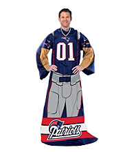New England Patriots Full Body Player Comfy Throw