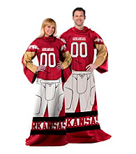 University of Arkansas Full Body Player Comfy Throw