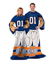 University of Illinois Full Body Player Comfy Throw