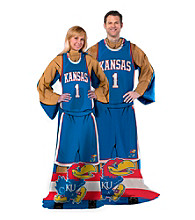 University of Kansas Full Body Player Comfy Throw
