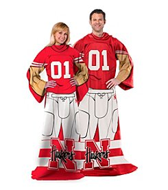 University of Nebraska Full Body Player Comfy Throw