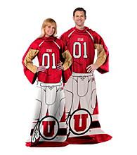 University of Utah Full Body Player Comfy Throw