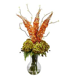 Nearly Natural® Fancy Foxtail and Hydrangea Arrangement