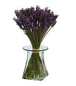 Nearly Natural® Lavender Bundle with Vase