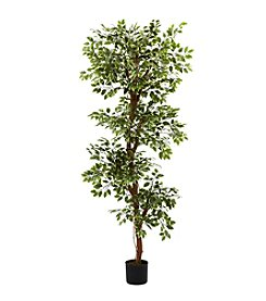 Nearly Natural® 6' Variegated Ficus Tree
