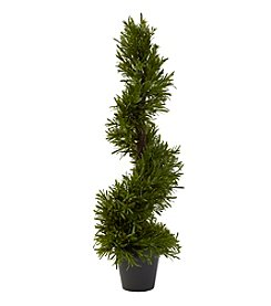Nearly Natural® Indoor Outdoor Rosemary Spiral Tree