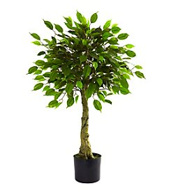 Nearly Natural® Indoor Outdoor UV Resistant 3' Ficus Tree