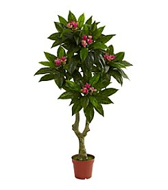 Nearly Natural® Indoor Outdoor UV Resistant 5' Plumeria Tree