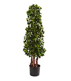 Nearly Natural® Indoor Outdoor UV Resistant 3.5' English Ivy Spiral