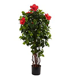 Nearly Natural® 4' Hibiscus Tree