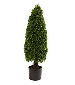 Nearly Natural® Indoor Outdoor UV Resistant 3' Boxwood Tower Topiary