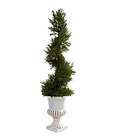 Nearly Natural® Indoor Outdoor 3' Rosemary Spiral with Urn