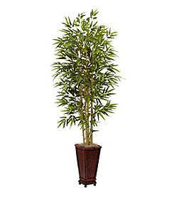 Nearly Natural® 6' Bamboo Tree with Decorative Planter