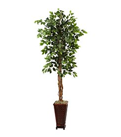 Nearly Natural® 6.5' Ficus with Decorative Planter