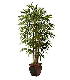 Nearly Natural® 5.5' Bamboo with Decorative Planter
