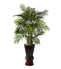 Nearly Natural® 4' Areca with Bamboo Planter
