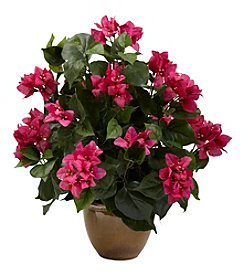 Nearly Natural® Bougainvillea with Ceramic Vase