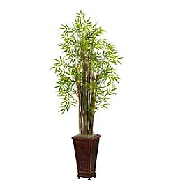 Nearly Natural® 5.5' Grass Bamboo Plant with Decorative Planter