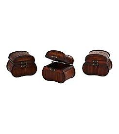 Nearly Natural® Set of Three Bamboo Chests
