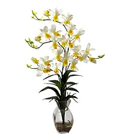 Nearly Natural® Dendrobium Orchid with Vase Arrangement