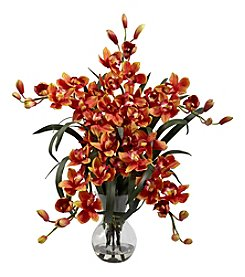 Nearly Natural® Large Cymbidium with Vase Arrangement