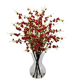 Nearly Natural® Cherry Blossoms with Vase Arrangement