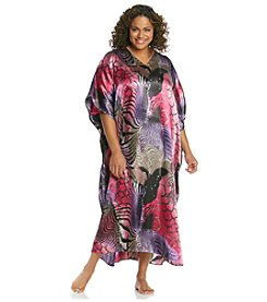 Winlar® Long Caftan - Pink Animal
