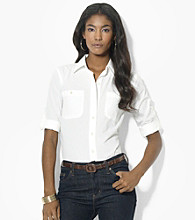 Lauren Jeans Co.® Roll-Sleeve Work Shirt