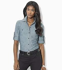 Lauren Jeans Co.® Roll-Sleeve Chambray Shirt