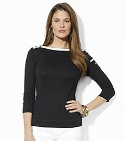 Lauren Jeans Co.® Three-Quarter-Sleeve Boatneck