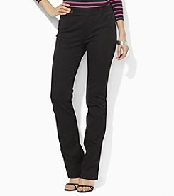 Lauren Ralph Lauren® Cotton Twill Straight-Leg Pants