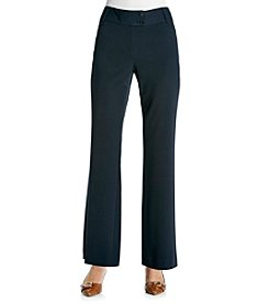 Rafaella® Petites' Navy Gab Curvy Fit Pant