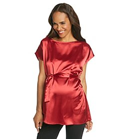 Three Seasons Maternity™ Dolman Sleeve Satin Top