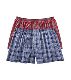 Hanes® Men's Assorted Tartan 2-Pack Big Man Classics Boxers