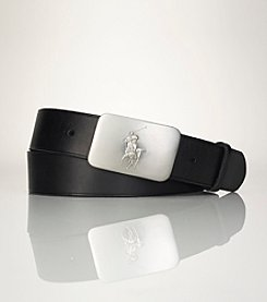 Polo Ralph Lauren® Men's Pony Plaque Leather Belt