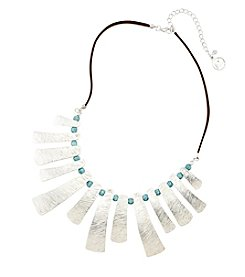 Erica Lyons® Turquoise Sand and Water Necklace