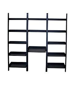 International Concepts 3-pc. Leaning Desk and Shelf Unit