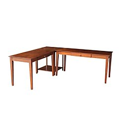 International Concepts L-Shape Alice Desk Set