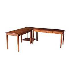 International Concepts L-Shape Elizabeth Desk Set