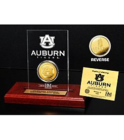 NCAA® Auburn University Gold Coin in Etched Acrylic