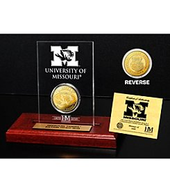 University of Missouri Gold Coin in Etched Acrylic by Highland Mint