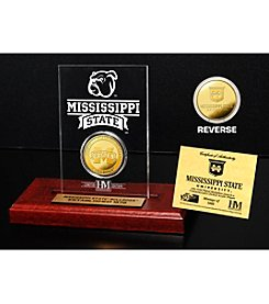 NCAA® Mississippi State University Gold Minted Coin in Etched Acrylic