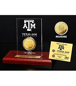 NCAA® Texas A&M University Gold Minted Coin in Etched Acrylic