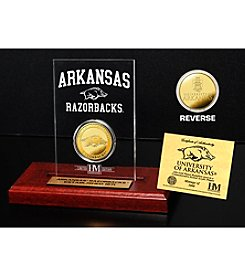 NCAA® University of Arkansas Gold Coin in Etched Acrylic