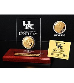 University of Kentucky Gold Coin in Etched Acrylic by Highland Mint