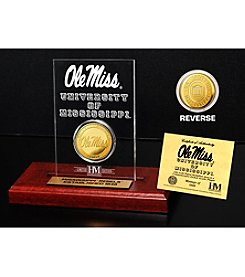 NCAA® University of Mississippi Gold Minted Coin in Etched Acrylic