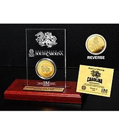 University of South Carolina Gold Coin in Etched Acrylic by Highland Mint