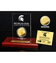 Michigan State University Gold Coin in Etched Acrylic by Highland Mint