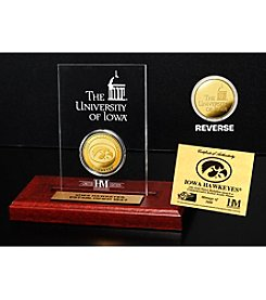 NCAA® University of Iowa Gold Coin in Etched Acrylic