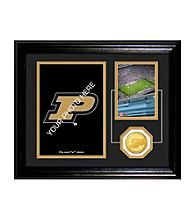 University of Purdue Fan Memories Desktop Photo Mint by Highland Mint